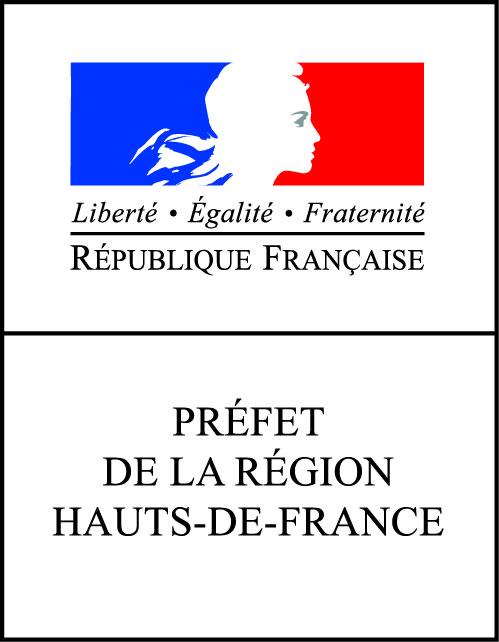 Logo bloc marque Préfet région HdF